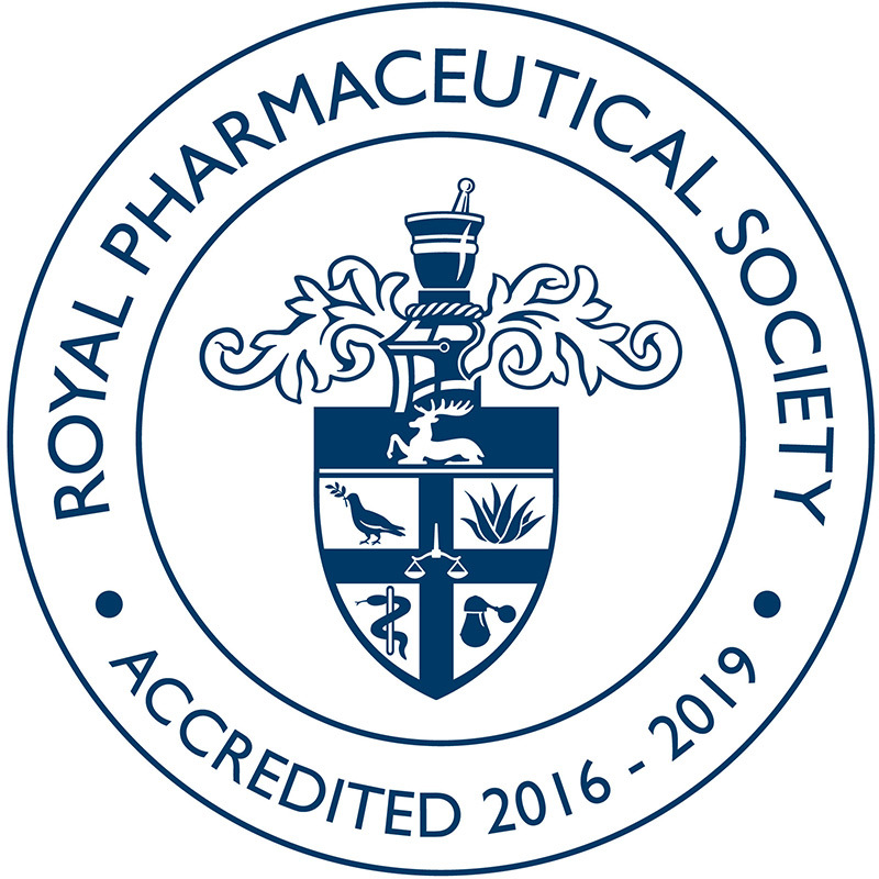 Royal Pharmaceutical Society Accredited logo